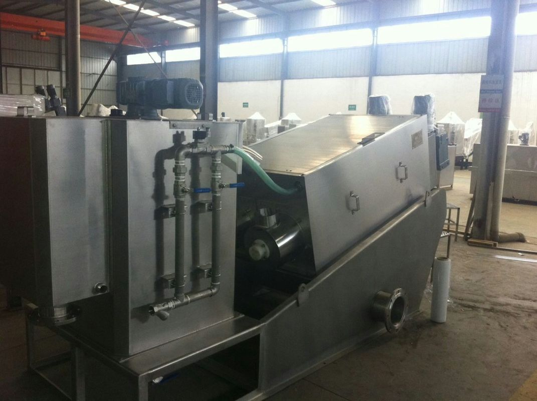 Stainless Steel Multi Disc Fully Automatic Filter Press For Waste Water Plant 2000 - 10000 Mg/L