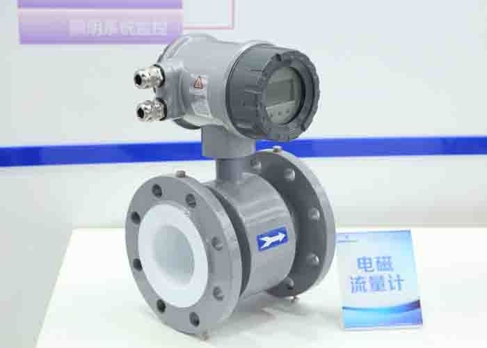Electrode 316l Flow Meter For Sewage Water , 220vac / 24vdc Sewer Flow Meter
