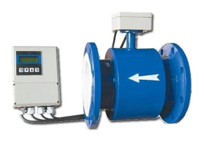 Flanged Electromagnetic Flow Meters For Conductive Liquids In Pipe